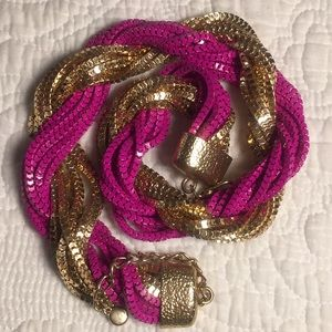 Jewelry - Gold and pink necklace